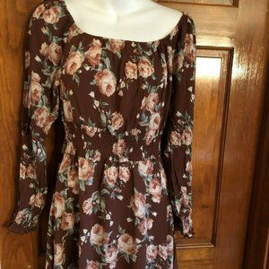 Pie in the Sky Brown Floral Dress